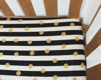 Stripe Crib Sheet Etsy