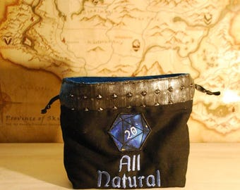 All Natural (20) Dice Bag (Made to Order)