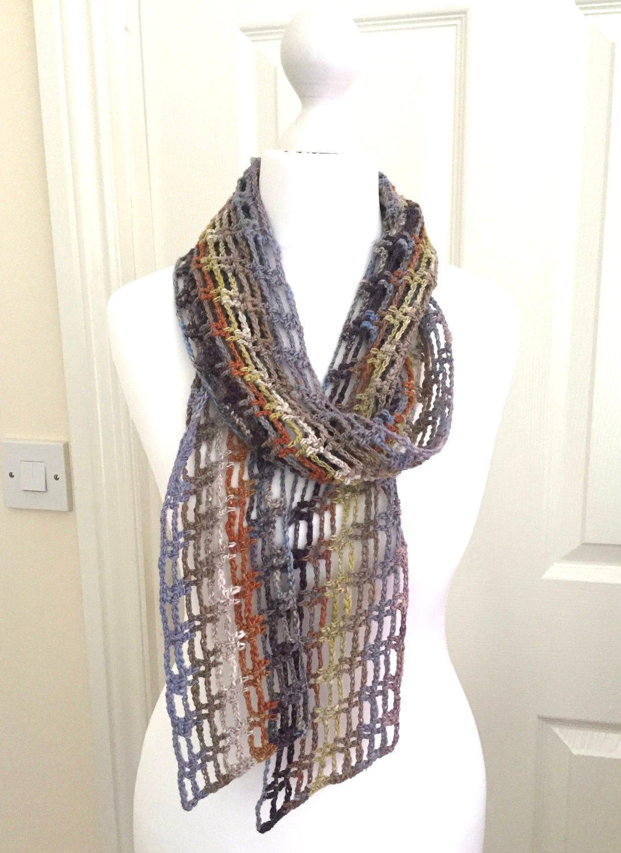 crochet scarf scarf summer scarf lightweight scarf