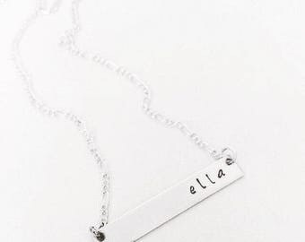 SALE Personalized Bar Necklace
