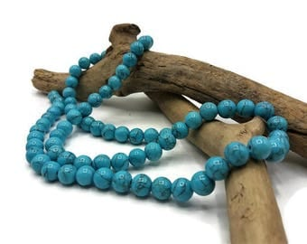 40 beads 8 mm turquoise - gem stone - Jade stone fine semi precious - A119