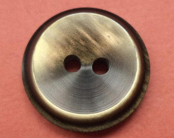 10 buttons grey brown 15mm (3422)