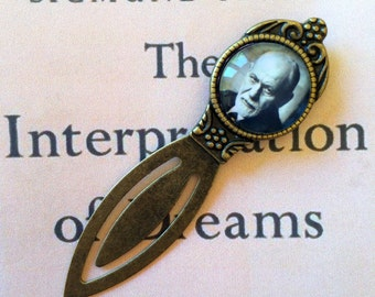 Freud Bookmark - Sigmund Freud Gift, Psychiatry Bookmark, Gift for Analyst, The Interpretation of Dreams, Vintage Sigmund Freud Bookmark