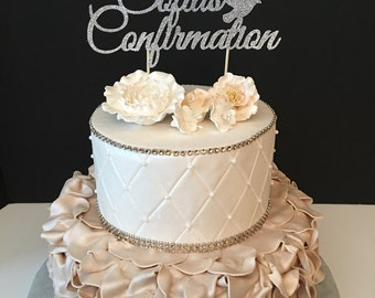 Personalized Confirmation Cake Topper, confirmation Cake Topper,