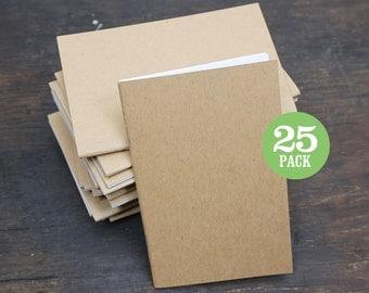 Bulk Notebook, Journal, Sketchbook, Bulk Journal, Blank Notebook, Bulk Notebook, 3.5 x 5.5, Blank Journal, Notebook, Blank, Plain, Set of 25