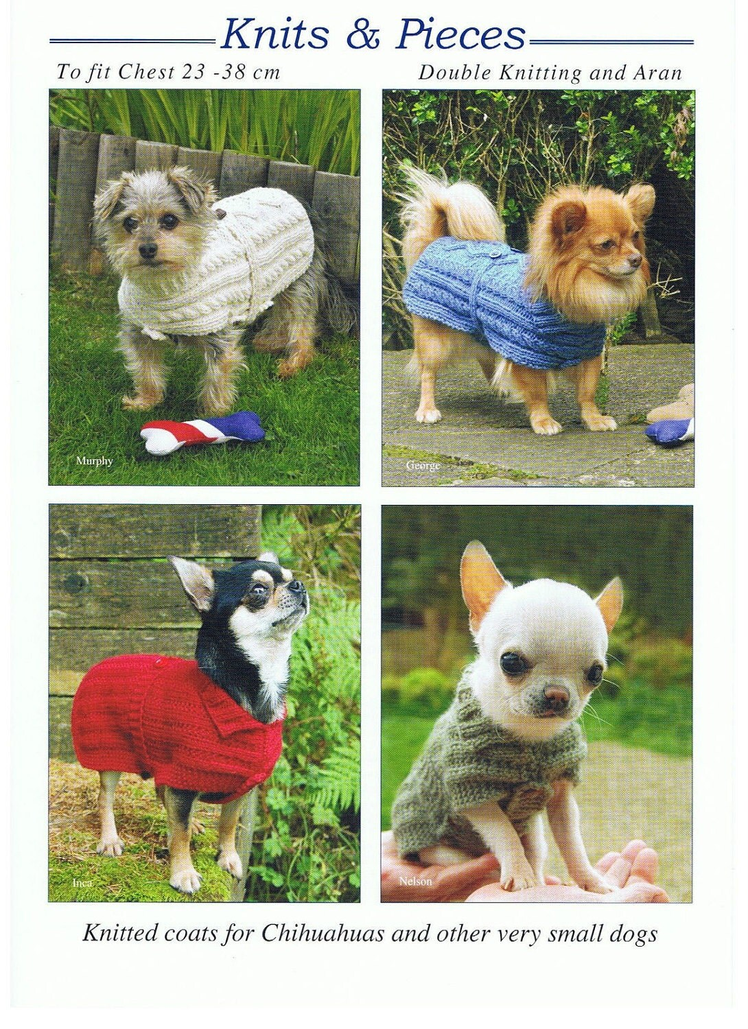 Dog Coat Knitting Pattern Uk : Knitting pattern for dog coat sweater very small