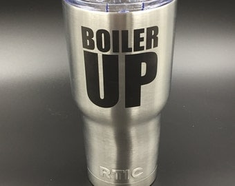 RTIC Tumbler-Purdue-30 oz-Engraved-Stainless Steel