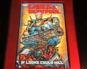 Comic book Frame for use with toploader Metallic Red