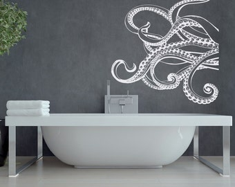 Large Kraken Octopus Tentacles Vinyl Wall Decal- Nautical Wall Decal- Ocean Wall Decal- Sea Animals Decals for Bedroom Bathroom Nursery #38