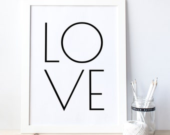 Love posters, LOVE Typography quote, Minimalist Wall Art, typography prints, Love decor, Graphic Print, Printable quote, typography 0006