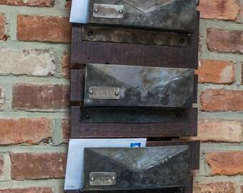 Iron & Reclaimed Pallet Mail Organizer