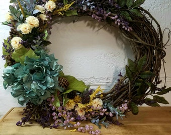 Spring wreath Spring flower wreath floral wreath grapevine wreath floral festive welcome Spring floral wreath door grapevine welcome wreath