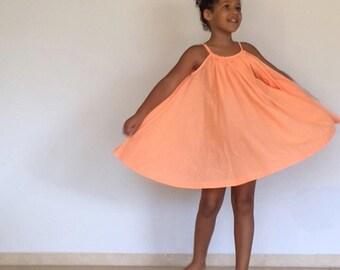 Dress girl Umatoktok twisting! Pleated circular cotton