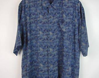 Vintage Blue Pattern Shirt