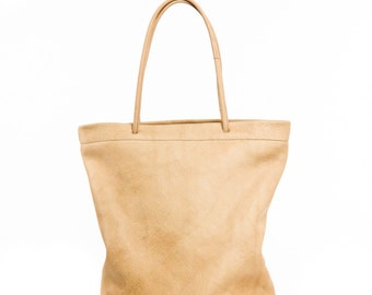 Soft Leather Tote / Leather shopper bag / Natural leather tote / Tan Leather bag  / leather tote / Soft leather handbags
