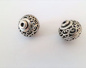 Antique silver antique silver beads