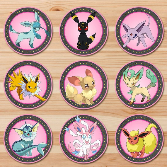 image regarding Pokemon Cupcake Toppers Printable named Pokemon Meals Tents Custom made Celebration Printables
