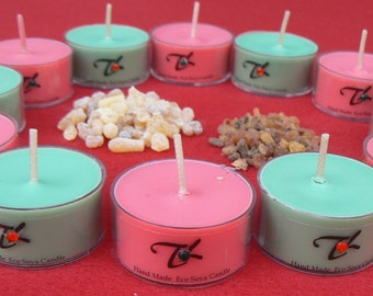 Christmas Tea Lights Scented Essential Oils Soy Candles Pack Of 6