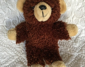 Vintage Latch and Hug Huggable Teddy Bear Finished - C1983