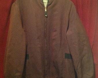 1950's Gaberdine Jacket / Wool lined / make - Campus USA.