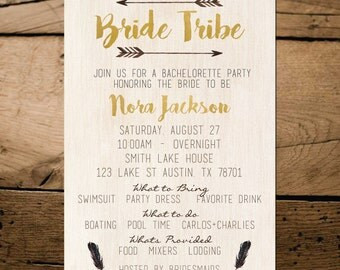 Bride Tribe Bachelorette Party Invitation | Bridal Shower | Printable | Instant Download | ANY Occasion