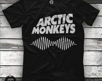 Arctic Monkeys Logo Unisex T Shirt Graphic Tee Size S M L XL 2XL