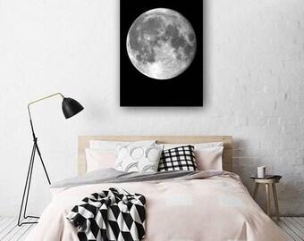 Moon Poster - Moon Print - Moon Phases - Moon Wall Art Print - Moon Decor - Moon Photo - Black and White- Minimalist Print - Bedroom Decor