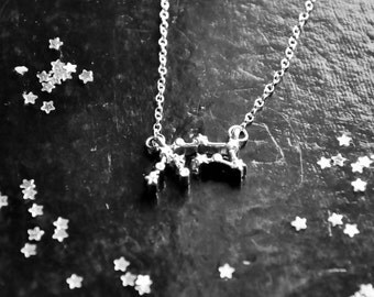 Aquarius necklace, Zodiac sign jewelry, Horoscope jewelry, Silver stars, Star signs, Astrology gifts, February birthday, Constellation, UK