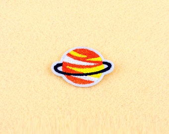 Space patch- Iron on patch -Sew On patch - Embroidered Patch (Size 4.9cm x 4.2cm)