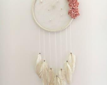 """9"""" White Floral Dream Catcher"""