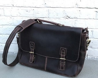 OVERMADE SALE: Espresso Messenger Bag