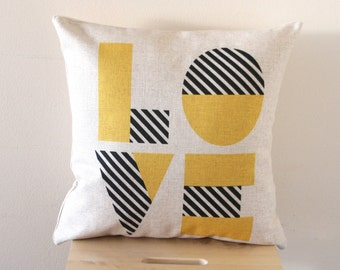 LOVE 2 Pillow Cover, Decorative Pillow Cover, Pillow Covers, Throw Pillow, Pillow Cushion, Sofa Pillow, Cushion Cover