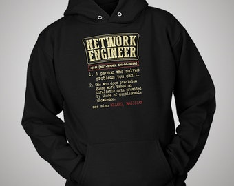 Network Engineer Funny Dictionary Definition Hoodie