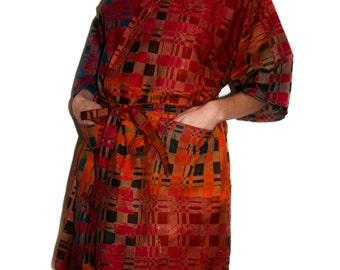 Kimono robe 'Chequer'