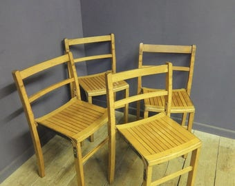 Vintage Industrial Stacking Chairs, Cafe