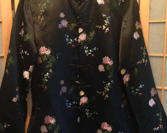 Chinese Silk and Rayon Embroidered Jacket