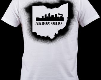 AKRON OHIO Sprayed Shirt