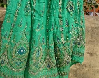 India Skirt Boho Skirt Long Cotton Maxi Skirt Indian Skirt Bohemian Clothing Gypsy Skirt Plain Skirt Bridal Embroidered Skirt Festival Skirt