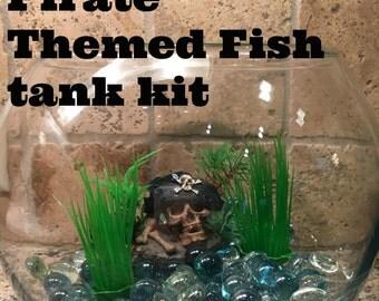 Pirate Themed Fish Tank Kit-Fishy kit