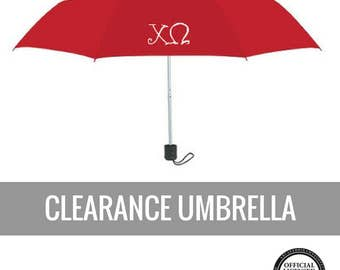 Chi Omega Umbrella . Red Chi Omega Umbrella . Sale . Ready to Ship