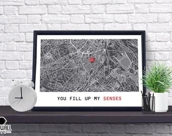 Sheffield Football Poster, Football Poster, Football Print, gift, Map Print