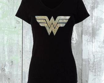 Wonder Women Gold Sequins Shirt