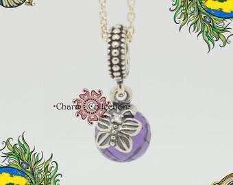 Genuine Pandora, Purple morning butterfly pendant charm 791258ACZ