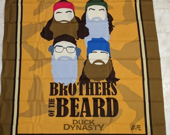 Duck Dynasty Brothers of the Beard Cotton Fabric Panel
