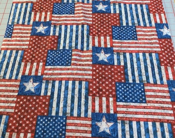 American Flag Cotton Fabric