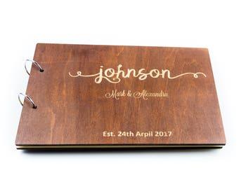 Rustic Wedding Guest Book, Custom Guest Book, Wooden Guest Book, Wedding Album, Unique Guest Book Ideas, Wedding Calligraphy, Wedding Decor