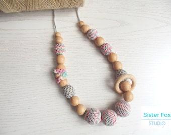 Crocheted necklace - Nursing necklace - Babywearing necklace