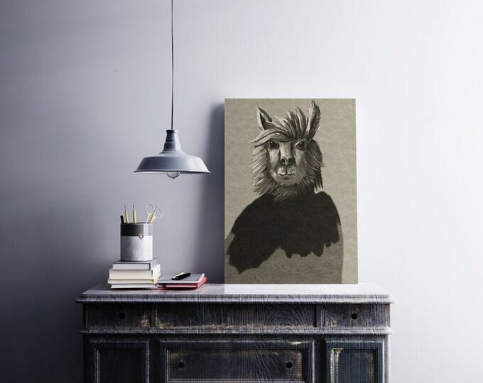 Llama - Printable digital illustration
