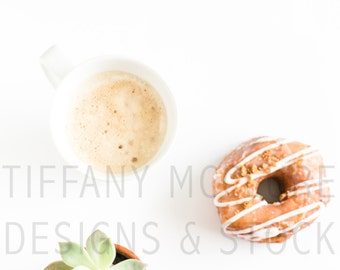 Coffee, Succulent, and DONUTS | Styled Stock Photography
