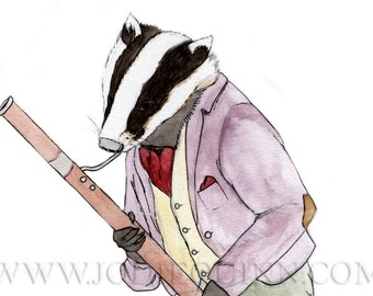 Billy Badger and his Bassoon